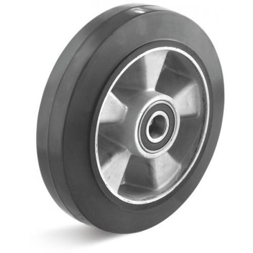roue de manutention caoutchouc lastique noir 200x50 8x2 corps alu et moyeu roulement. Black Bedroom Furniture Sets. Home Design Ideas
