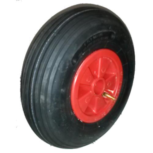 roue compl te gonflable de brouette deli s 379 tt 4pr jante plastique rouge moyeu. Black Bedroom Furniture Sets. Home Design Ideas