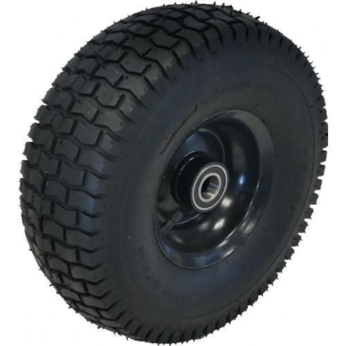 roue compl te gonflable profil gazon 390x140 tt 4pr jante acier noir en 1 partie. Black Bedroom Furniture Sets. Home Design Ideas
