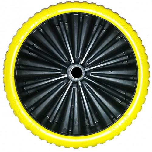 roue compl te increvable starco flex lite st 18 bandage polyur thane jaune 39 12e jante. Black Bedroom Furniture Sets. Home Design Ideas