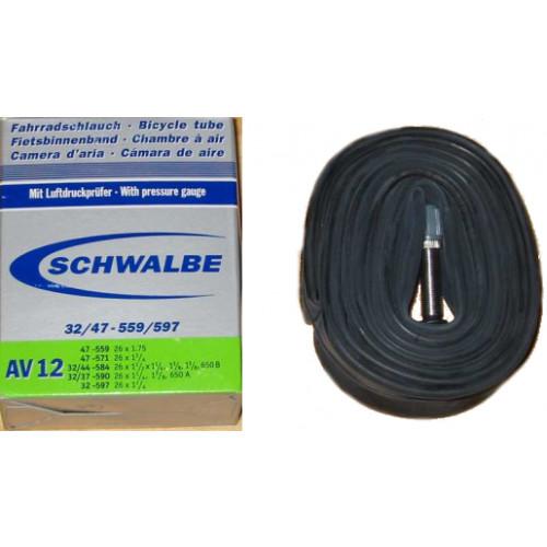 Chambre air schwalbe avec valve schrader pour pneus de for Chambre a air 26x1 75
