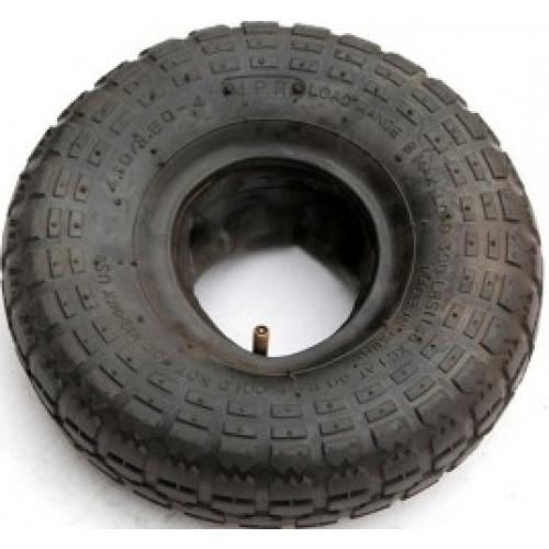 Set (pneu + chambre u00e0 air avec valve coudu00e9e) 4.10/3.50-4 TT 4PR