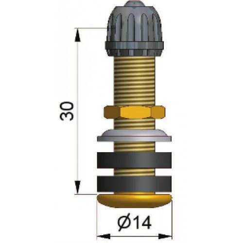 valve droite de 30 mm en laiton type tr430 pour trou de jante de 8 5 mm moto pression maxi. Black Bedroom Furniture Sets. Home Design Ideas
