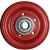Jante Vlukon acier rouge - en 2 parties boulonnées - 2.10x4 - TT - ET0 - Moyeu à roulements à billes (6005 2RS) de Ø25x75 mm
