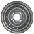 Jante grise nue en acier - 4.00Jx13 H2 TL / 4 trous - ET0 (sans déport) / entre-axe Ø85x130 / trou de fixation Ø18.5 / Trou de valve Ø11.3
