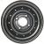 Jante grise nue en acier - 5.00Jx13 (5Jx13) H2 TL / 4 trous - déport ET20 / entre-axe Ø85x130 / trou de fixation Ø18.5 / Trou de valve Ø11.3