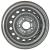Jante grise nue en acier - 4.50Jx13 H2 TL / 5 trous - déport ET30 / entre-axe Ø66.6x112 / trou de fixation Ø15.5 / Trou de valve Ø11.3