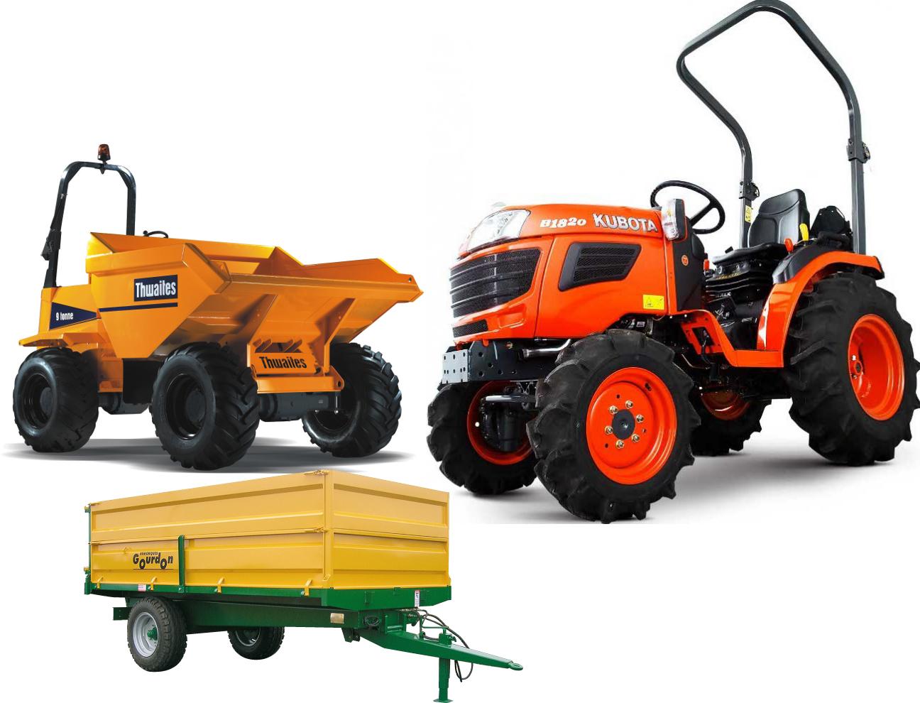 tracteur / porteur / dumper / génie civil