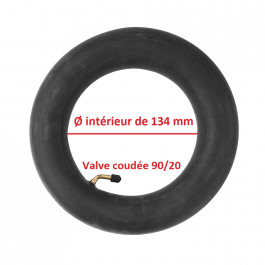 CHAMBRE à AIR - 220x50-134 (8 1/2x2-134 · 50-134) VALVE COUDÉE 90/20 - POUR PNEU DE Ø INTÉRIEUR DE 134 MM