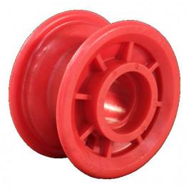 Jante plastique rouge - 2.10x4 - Moyeu avec cage pour roulement à billes Ø47x14 (6204, 6005, 6303)