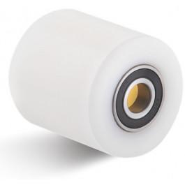 Galet polyamide (PA6) - Ø85x100mm avec moyeu roulement à billes Ø25x100 6005 2RS