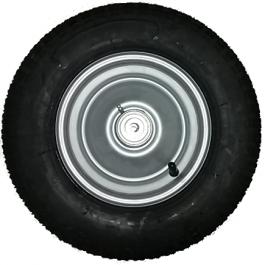 Roue complète remorque NOVAL - Kenda K308 - 3.50-8 TL 46M / Jante acier avec roulement à billes / Moyeu Ø12x141