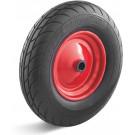 Roue complète INCREVABLE - TobiTyre 4.00-8 - Bandage Polyuréthane Noir / Jante acier moyeu ROULEMENTS à BILLES Ø25x75 - Capacité de charge 250 kgs