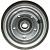 Jante en Acier grise - 2 parties boulonnées - 2.10x4 - TT - ET0 - Moyeu à roulements à billes (6204 2RS) de Ø20x75