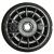 Jante nue Tubeless - 2.10x4 - en plastique noire - 1 seule partie - avec moyeu centré à roulement à rouleaux de 20x75