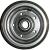 Jante en Acier - grise - 2 parties - GK 2.10x4 - TT - ET0 - Moyeu à roulements à billes (6005 2RS) de Ø25x50