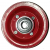 Jante Acier rouge en 2 parties boulonnées - 2.10x4 - TT - ET0 (sans déport) - Moyeu à roulements à billes (6204 2RS) de Ø20x75