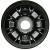 Jante Starco en polypropylène noire - 1 partie - GO 2.25Ax4 H2 TL - Moyeu tube lisse Ø35x71