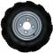 Roue complète gauche - 5.0-10 (5.00-10) Pneu Mitas B17 TT 4PR / 4 trous ET0 (sans déport) Ø85x115xØ12.5 - Valve TR413