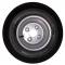 Roue complète remorque - Deli S-368 - 16.5x6.50-8 TL 73M 6PR / Jante grise en acier - 5.50Ax8 H2 / 4 trous - déport ET0 / entre-axe Ø60x100 /  trou de fixation Ø14.5 / Valve TR600HP